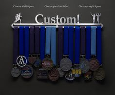 Personalized Running Medal Holder - Allied Medal Hangers                                                                                                                                                                                 More