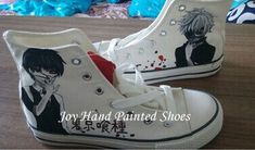 Custom Anime #TokyoGhoul Shoes Custom Hand Painted Shoes for Men