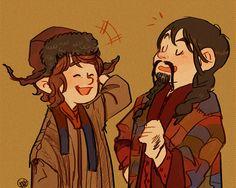 Bilbo in Bofur's rockin' hat!