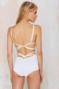 Sweetheart High-Waisted Cutout Panty - White