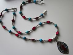 STUNNING AFGHANI PENDANT on necklace and by AdornmentsToAdore