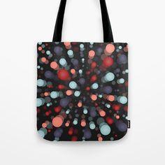 Circles background, dark. Tote Bag