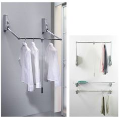 WARDROBE LIFT WALL MOUNT - 10 Mobile clothes hanger specially designed for wall mounting.It is used to fit in wardrobe interiors,shops and storerooms.The lift is returned to the top position by a hydraulic device operated with a specially designed fluid.The plastic parts are in nylon reinforced with grey fiberglass, the vertical arms are in steel painted aluminium grey and the horizontal bar is in chromium plated steel. Reach us at: www.southindiaagencies.com