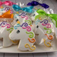 Unicorn Cookies, Princess Cookies - 20 Decorated Sugar Cookie Favors