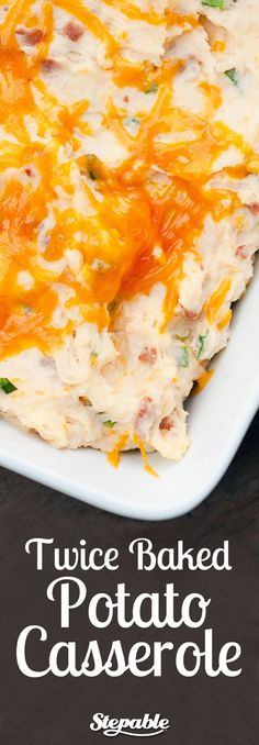 Twice Baked Potato Casserole. Only takes 15 minutes of prep time and made with ingredients you likely already have.