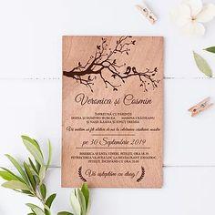 INVITATII PE LEMN Verona, Place Cards, Place Card Holders, Photo And Video, Instagram