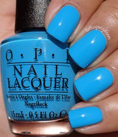 OPI — Fearlessly Alice (Alice Through the Looking Glass Brights Collection Nails Opi, Get Nails, How To Do Nails, Nail Polishes, Colorful Nail Designs, Nail Art Designs, Nails Design, Opi Nail Colors, Opi Blue Nail Polish