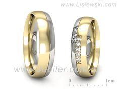 adfbdfa2730979 złote obrączki dwukolorowe 5 mm z brylantami | Obrączki | Pinterest