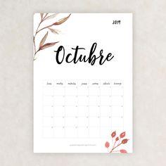 calendario 2019 octubre Bullet Journal Font, Journal Fonts, Printable Planner, Free Printables, Moon Painting, Girl Meets World, School Hacks, Bullet Journal Inspiration, Flyer Design