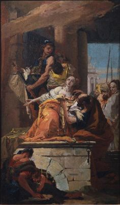 Martyrdom of Saint Agatha Giovanni Battista Tiepolo The Courtauld Gallery Dutch Painters, Italian Artist, British Museum, Rococo, Asian Art, Photo Art, Oil On Canvas, Saints, Art Gallery