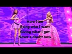 "Barbie The Princess and The Popstar ""Here I Am""(Keira Version) Lyrics"