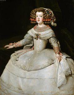 Portrait of the Infanta Maria Theresa of Spain by Diego Velázquez Maria Theresa Of Spain, Maria Teresa, Spanish Painters, Spanish Artists, European History, Art History, Spain History, Diego Velazquez, Baroque Art