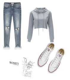 """""""Untitled #1"""" by elviiisa-besic ❤ liked on Polyvore featuring Converse"""