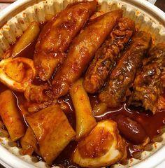 Korean Street Food, Korean Food, Korean Noodles, Good Food, Yummy Food, Food Obsession, Cafe Food, Aesthetic Food, Food Cravings