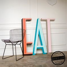 Mid-century inspired font / sign letters inspired by vintage signs found around Houston, Texas.