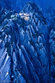 Jade Screen Hotel, China…a hotel built into the mind bogglingly beautiful cliffs of China…