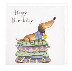 happy birthday you musical dachshund greeting card medal