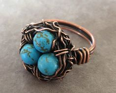 Jewelry: Bird Nest Ring DIY.