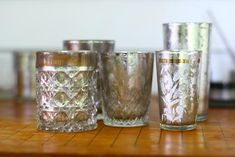 Mercury glass using silver leaf