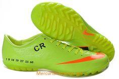 Nike Mercurial CR7 Vapor IX TF Soccer Shoes Electric Green Orange