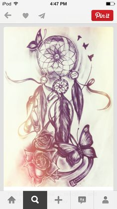 I love this Dream catcher, definitely need to figure out where I'm gonna get it..maybe my other thigh