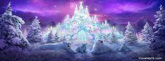 Polar Bears and Ice Castle Facebook Cover
