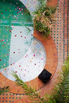Riad Decor, Northern Medina, Marrakech, Morocco - Handmade tiles can be designed and customized by ceramic designers Exterior Design, Interior And Exterior, Houses Architecture, Islamic Architecture, Riad, Deco Nature, Outdoor Spaces, Outdoor Living, Handmade Tiles