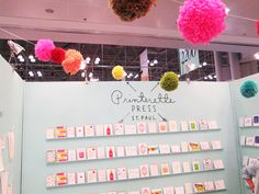 printerette press booth at the national stationary show 2012