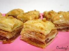 Baklava hojaldrada de almendras, piñones y jengibre - Cuuking!