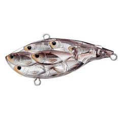 """Yearling Baitball Rattlebait 2 1/2"""", Number 4 and 6 Hook Size, Variable, Depth, Silver/Black - Watchesfixx"""