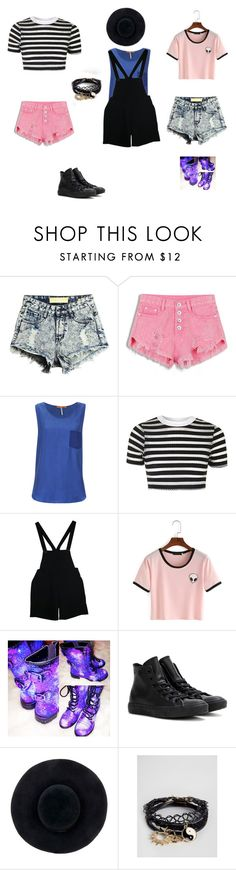"""Summer Outfit"" by sophaloafy ❤ liked on Polyvore featuring BOSS Orange, Topshop, American Apparel, Converse, Eugenia Kim and ASOS"