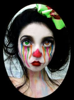 Tim burton inspired makeup, i really like this look as it slighlty resembles a clown to me with a twist.