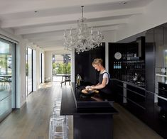 A lifetime of travel, laughter and love was channelled into this new black-clad home, which was the realisation of a lifelong dream for a busy city dweller Entryway Chandelier, Clad Home, Recycled Brick, Busy City, New York Style, Plan Design, New Builds, Tuscany, House Tours