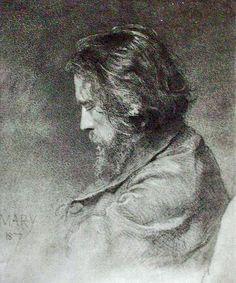 "sculppp: "" Zichy Mihály "" Art Drawings, Faces, Tumblr, Hot, The Face, Tumbler, Face, Art Paintings"