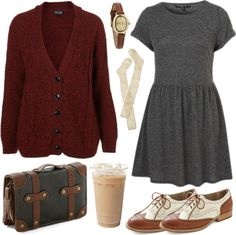 """Cozy wih burgundy"" by hanaglatison ❤ liked on Polyvore"