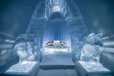 9 Epic Ice Palaces Snow Hotels and Igloos For Your Winter Bucket List - Dekor Ice Hotel Sweden, Ice Houses, Sweden Travel, Ice Sculptures, Chapelle, New Artists, Natural, Places To See, Instagram