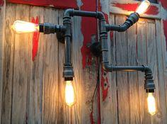 Applique murale usine steampunk industriel factory tuyauteries industrielles en tuyau de fonte noire de la boutique lifestyle66 sur Etsy