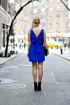Date Night Look   Bow Back Dress