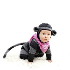 Baby Monkey Striped Onesie