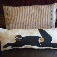 Prim Bunny Silhouette Pillow!