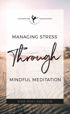Managing Stress Through Mindful Meditation. How to manage stress effectively. Guided Meditation, Meditation Practices, Mindfulness Meditation, Meditation Images, Meditation For Anxiety, Meditation Quotes, Anxiety Relief, Stress And Anxiety, Stress Relief