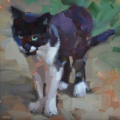 """Daily Paintworks - """"Cattitude"""" by Carol Marine"""