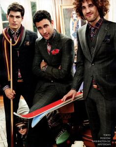 Preppy looks from Tommy Hilfiger.  Max Rogers, Sam Way, and the other one.