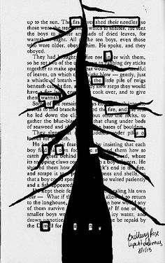 (2) blackout poetry | Tumblr
