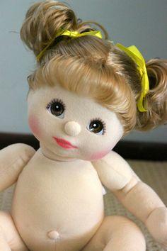 My Child Doll Ash Blonde Curly Piggies Brown Eyes