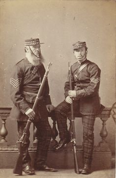 7Th Corp Stirlingshire Rifle volunteers 1853-1860. Holding M1853/66 Snider-Enfield rifles,mark I & Mark II  in .577 Snider