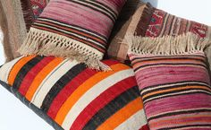 Handmade Colorful Pillows from Commune