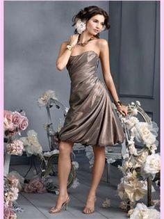 Taffeta Short Bridesmaid Dress