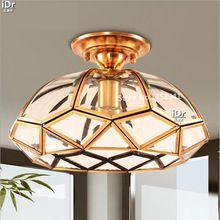 Totalmente de cobre única cabeza de la lámpara porche restaurante dormitorio de la lámpara del pasillo Luces de Techo de iluminación 100% de garantía de calidad(China (Mainland))