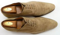 3aa322e5c6e Magnanni sz 11.5 Espla Suede Wingtip Oxfords 12304 Mens Tan fits US 11.5  Mens Shoes Boots